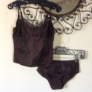 GAP Intimates & Sleepwear - SOLD Gap Sleep Intimates Set Tank & Undies Brown